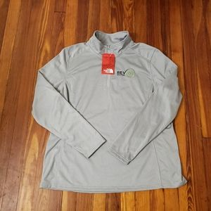 North Face Gray Womens 2XL Pullover Fleece New Wit